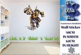 transformers bumblebee wall sticker childrens room decor large ebay transformers bumblebee wall sticker