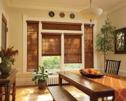 hunterdouglas chalet woods wood blinds dining room delicious