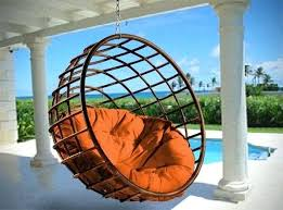 outdoor hanging chairs brass hanging chair with cushions hanging