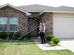 giant spider web decoration gigantic halloween spider web 8 steps