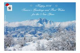 season s greeting and best wishes for the new year wwf