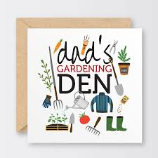 fathers day cards s gardening den s day card by the bird press