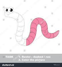 pink worm vector colorful be traced stock vector 424857289