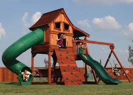 furniture unique outdoor playground design with wooden gorilla