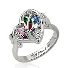 about mothers rings images Personalized cage ring with birthstones jpg