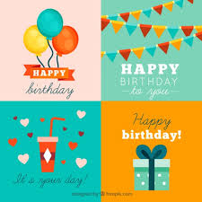 happy birthday cards collection vector free download