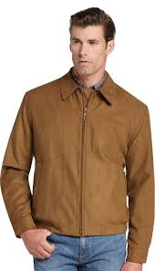 Tan Republic Bend Oregon Jos A Bank Traditional Fit Microsuede Bomber Jacket 69 Casual