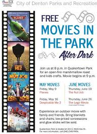 fun for the kids tomorrow with movies in the park at quakertown