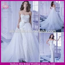 sd909 heavy beaded wedding dress 2 in 1 wedding dress cheap modest