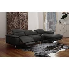 canapé sofa italien canapé d angle en cuir italien 5 places relaxia achat vente