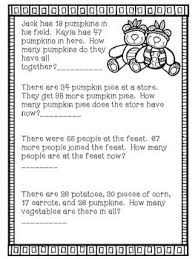 thanksgiving 2 digit addition word problems by smilelaughteach tpt