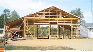 Barn Roof by Pole Barn Build 4 Roofing And Wall Tin Youtube