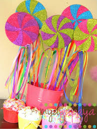 eye popping color for candyland party favors or centerpieces