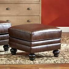 brown faux leather storage ottoman bench coffee table tag ottoman