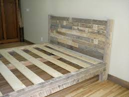 King Size Bed Frame Diy Diy Your Own Pallet Patio Furniture King Size Bed Frame