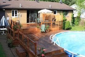 above ground pool decks pool contemporary with berkshire pool