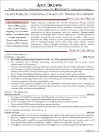 financial planning and analysis resume examples finance analyst resume sample and tips starengineering