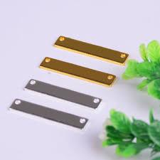 diy metal bracelet images 50pcs gold silver color blank plates hand stamping tags jpg