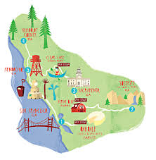 San Francisco County Map by 8 All American Drives With Google Maps Parents