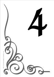 wedding table numbers template free table numbers templates coloring for funny free table numbers