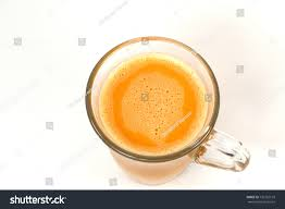 Yaman Teh top view pulled tea milk famously stock photo 735755179