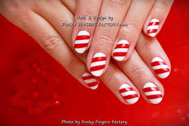 gelish candy cane nails funky fingers factory