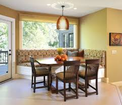 killer image of dining room decoration using colorful l shape