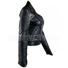 padded motorcycle jacket womens biker jacket black quilted leather jacket