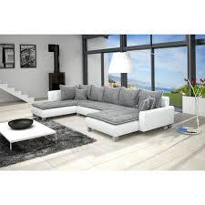 canapé d angle contemporain canapé d angle contemporain en simili cuir et tissu coloris gris et