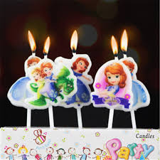 sofia the candle 5pcs lot party supplies kids birthday candles evening party