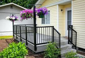 Decking Handrail Ideas Patio Ideas Deck Railing Planters Menards Self Watering Railing
