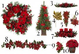 decorating with artificial poinsettias