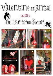 Dollar Tree Decorating Ideas Vintage Whimsical Valentine Mantel Dollar Tree Decor Mantels