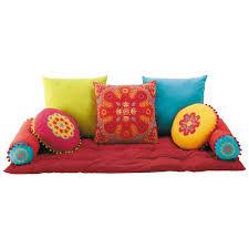 cuscini a materasso 7 cuscini materasso in cotone multicolore maisons du monde