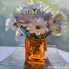 Flowers Glass Vase Morning Daisies Pj Cook Gallery Of Original Fine Art
