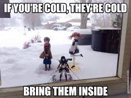 Snow Memes - snow animememe