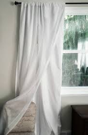 Noise Reduction Drapes White Blackout Curtain With Voile Overlay One Panel Custom