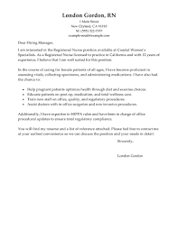 Healthcare Resume Cover Letter Best Registered Nurse Cover Letter Examples Livecareer