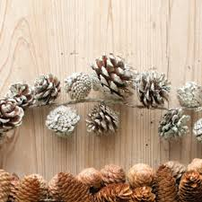 pinecone garland painted pinecone garland antique farmhouse