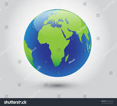World Map Of Africa by Vector Earth Globe Icon World Map Stock Vector 516691009