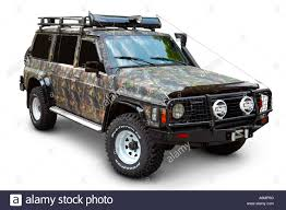 nissan patrol 1995 camouflaged and tuned nissan patrol 1997 4x4 stock photo royalty