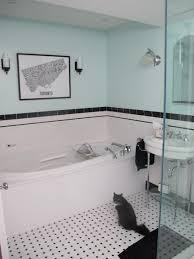 1930s bathroom design deco mint bath black and white cats pinterest bath art deco