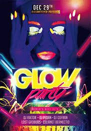 glow party glow party flyer psd template by elegantflyer