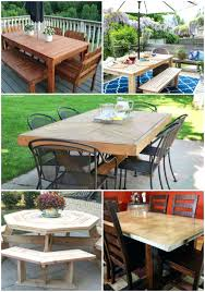 Make Your Own Outdoor Wooden Table by Make Your Own Dining Table U2013 Thelt Co