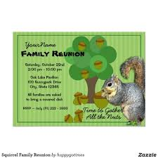 Family Reunion Invitation Cards Squirrel Family Reunion Paper Invitation Card Rd Da Bd Ef Zkrqs