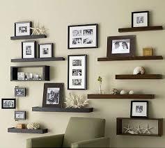 Staggered Bookshelves by Wall Shelf Designs For Hall Popular Shelf 2017