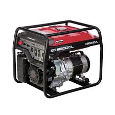 honda 6500 watt gasoline generator with gfci duplex outlet