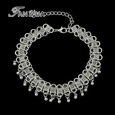 vintage silver choker necklace images Fanhua vintage jewelry antique silver color charm chain necklace jpg