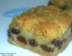 la cuisine d isabelle dans la cuisine de blanc manger carrés aux raisins secs et crème