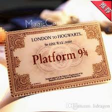 tickets gift card hogwarts school of witchcraft and wizardry harry potter
